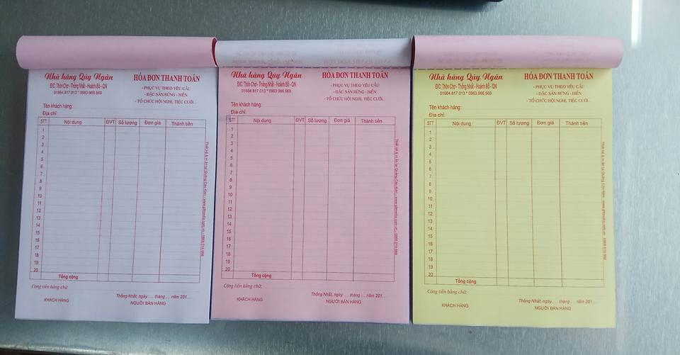 In hóa đơn bán lẻ 3 liên