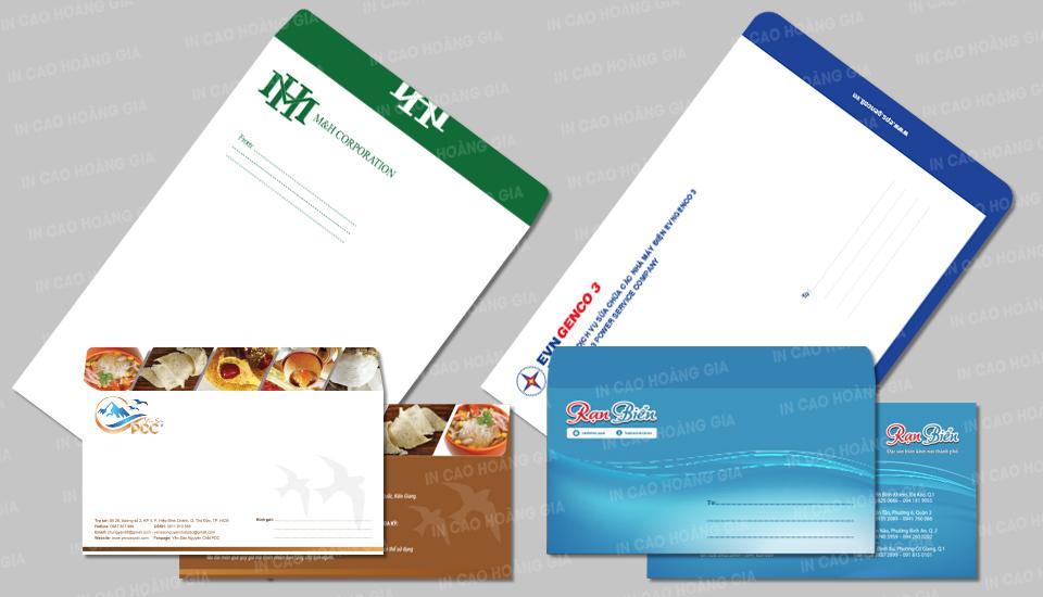 Thiết kế in ấn bao thư phong cách hiện đại nổi bật thương hiệu